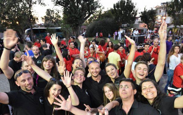 19. International Youth Band Festival - wspólna zabawa podczas gali finałowej Festiwalu (sierpień 2016 r.)