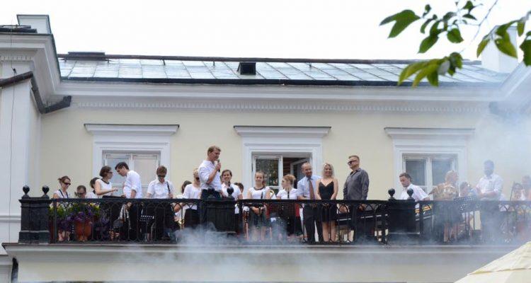 Przyjęcie pożegnalne Rektora SGGW w ogrodach Pałacu Rektorskiego